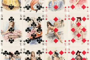 Mmoires-de-Casanova-artistic-and-lightly-risqu-playing-cards-with-paintings-by-Paul-mile-Bcat-published-by-ditions-Philibert-Paris-c.1960